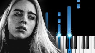 Billie Eilish - listen before i go - EASY Piano Tutorial