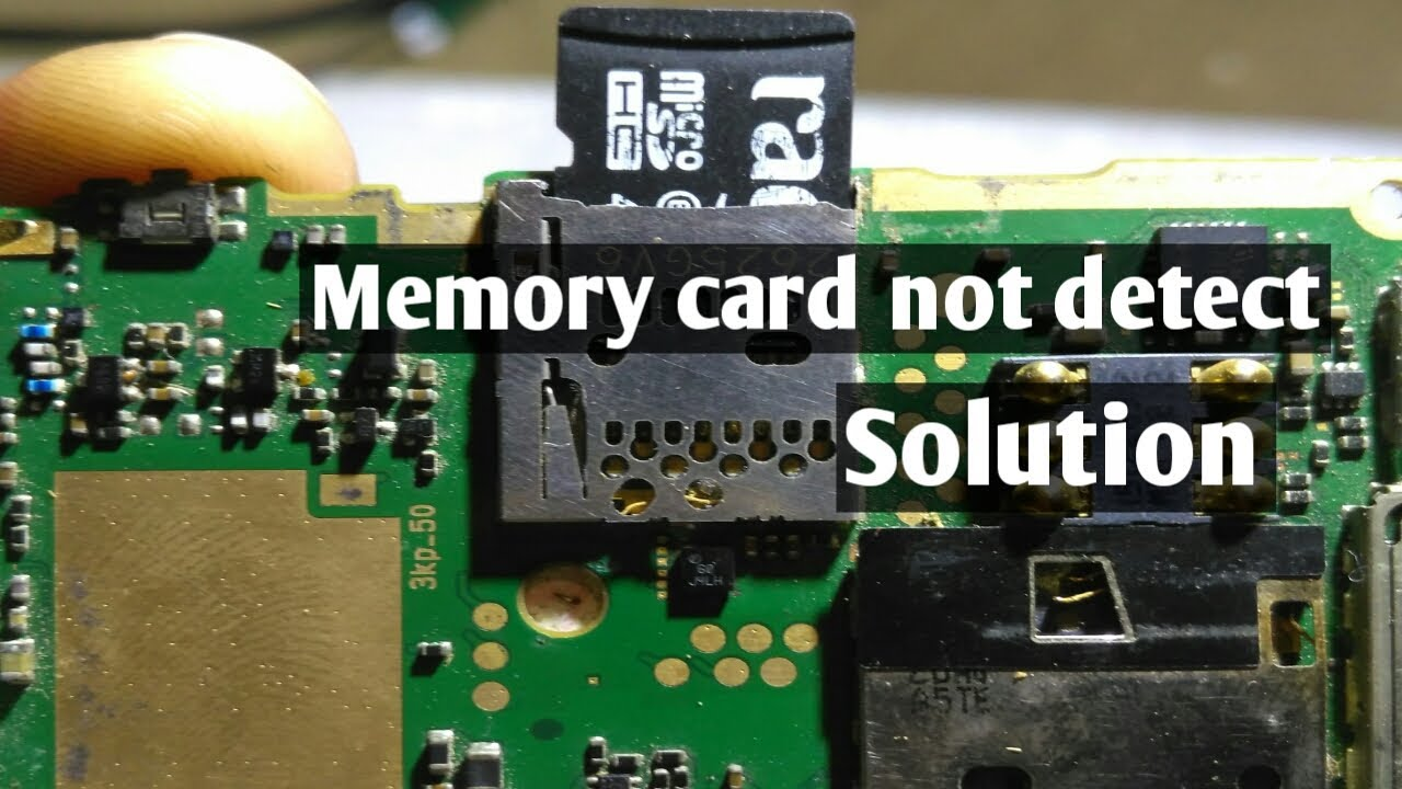 How to fix Memory Card not detect in mobile phone PCB ? Explain in ...