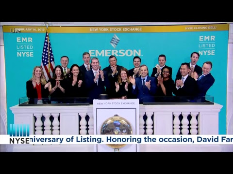 Emerson (NYSE: EMR) Rings the NYSE Closing Bell