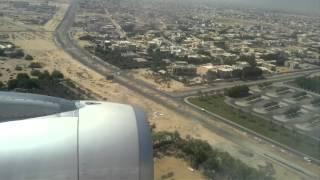 Air Arabia flight Landing in sharjah International