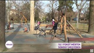 18,1 fokot mértek Somogy megyében