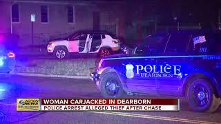 Police arrest alleged carjacker after chase in Dearborn