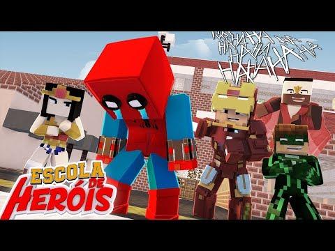 Minecraft: HOMEM ARANHA SOFRE BULLYING #05 ( ESCOLA DE HERÓIS 2 )