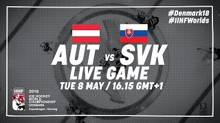 Austria - Slovakia   Full Game   2018 IIHF Ice Hockey World Championship