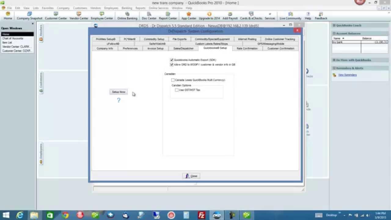 Dr Dispatch Transportation Software - Quickbooks Trucking Setup - Trucking  and Brokerage Software
