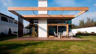 146 m2 Modern Two Bedrooms House Concrete Rectangular Architecture Design Idea