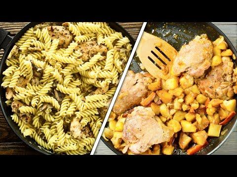 7 ИДЕЙ ужина или обеда на сковороде – оригинально, быстро и недорого