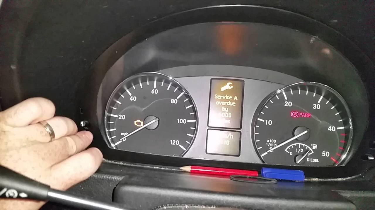 Mercedes sprinter service light reset  EASY WAY