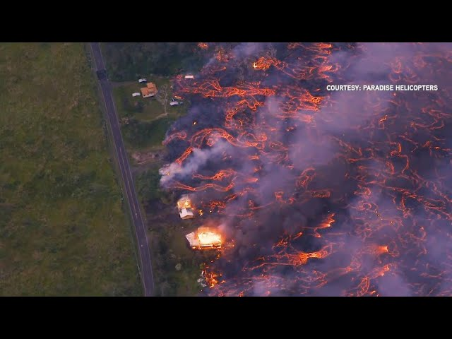 Lava from Hawaii's Kilauea volcano threatening homes