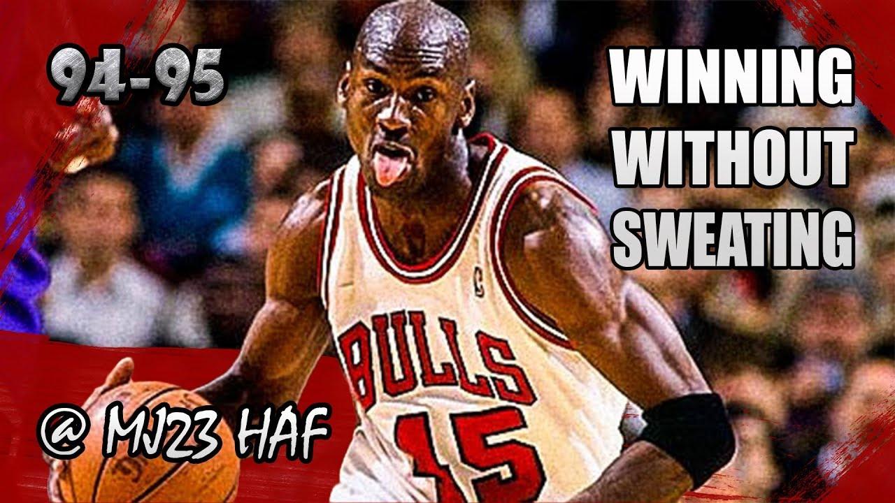 1e217f0b9ed Michael Jordan Highlights vs Hornets (1995.04.22) - 19pts