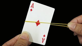 Download lagu CARD vs RUBBER BAND - 2 Easy and Awesome Magic Tricks