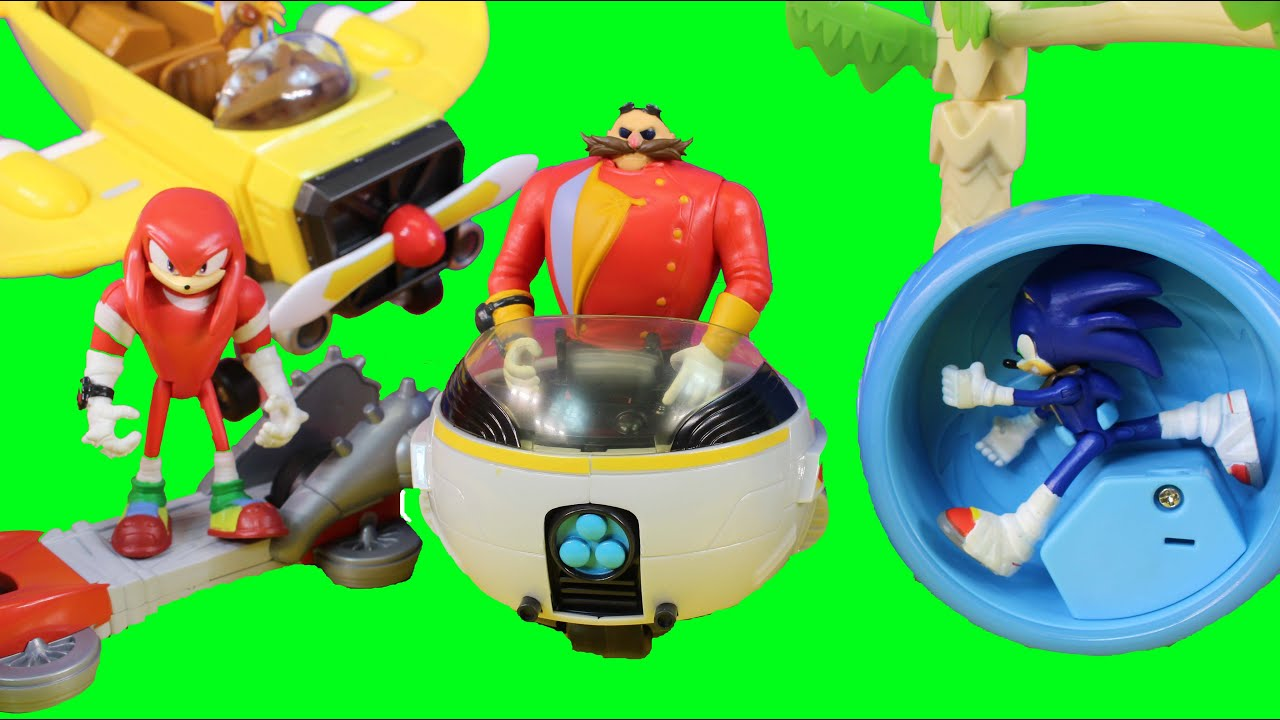 Sonic The Hedgehog Toys Sonic Boom Launcher Burnbot Dr Eggman Orbot Cubot Knuckles Tales Plane Youtube