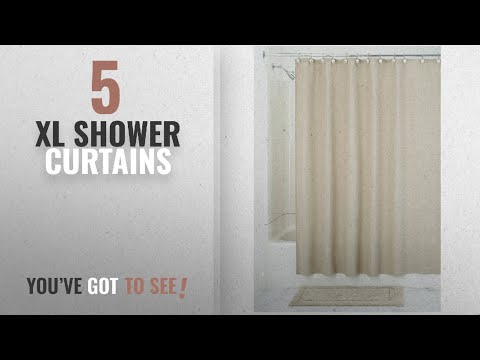 Top 10 Xl Shower Curtains [2018]: InterDesign York Hotel Fabric Cotton and Polyester Blend Shower