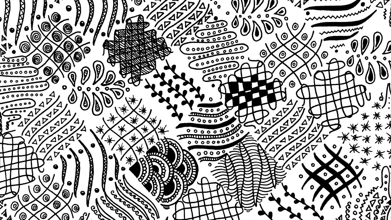 15 easy freehand zentangle patterns for beginners full page karthika loves diy youtube. Black Bedroom Furniture Sets. Home Design Ideas