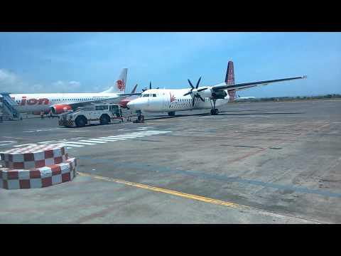 Transnusa Airline Pushback Fokker 50