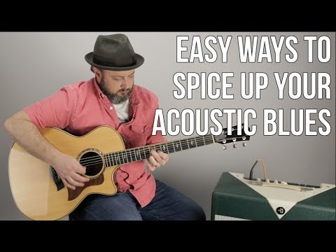 Acoustic Blues Guitar Lesson - 1 Easy Triad To Spice Up Your Blues!