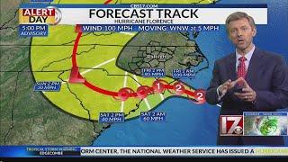 5 p.m. Update - Hurricane Florence