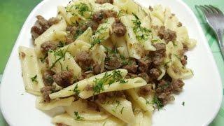 Как приготовить макароны по флотски с фаршем Рецепт Второе блюдо