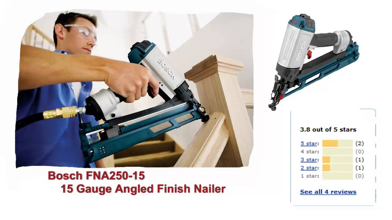 Finish Nailer Reviews - Best 15 Gauge Finish Nailers - YouTube