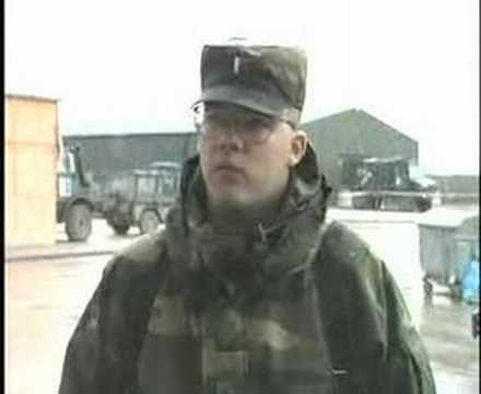 Sarajevo, Bosnia: Army Reservist Peter Musurlian reports for Armed Forces Network in 1997-98