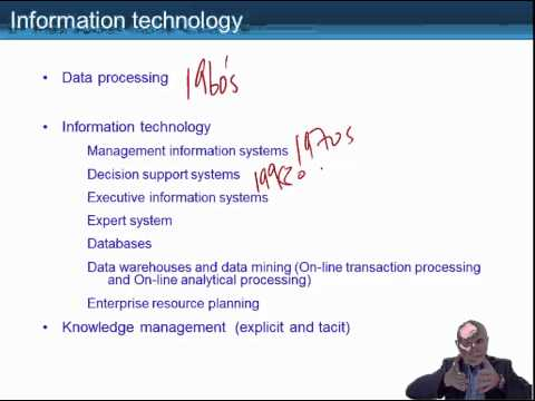 ACCA P5 Lecture, Effect of Information Technology on Strategic Management Accounting