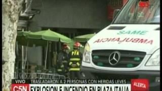 C5N Palermo Explosion e incendio en un local cercano a Plaza Italia