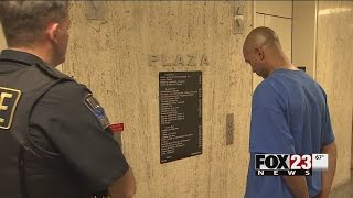 WATCH: Police: Tulsa man brought woman with protective order against him to police station