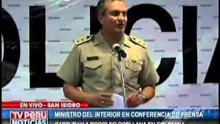 CONFERENCIA DE PRENSA: MINISTRO DEL INTERIOR DA DETALLES SOBRE CAPTURA DE ORELLANA (PARTE 2)