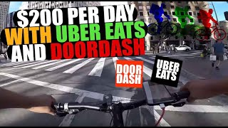 $200 Per Day - Bike Deliveries on UberEats and DoorDash - Hustlers Mentality
