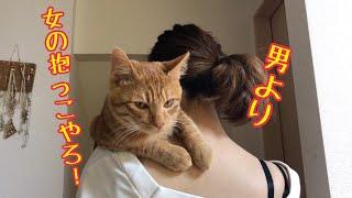 【オススメ動画】 抱っこ大好きな猫が要求してくるので抱っこしてあげた...