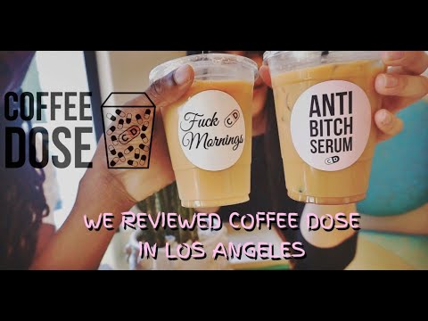 WE TRIED L.A.'S CUTEST COFFEE SHOP... COFFEE DOSE | MOSES & TATI thumbnail