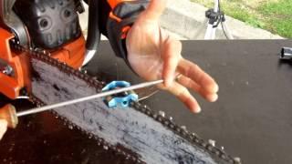 HUSVARNA FRANCE : Comment affûter la chaîne de sa tronçonneuse, avec Jean-Michel PETITQUEUX