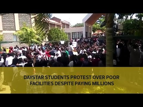 Daystar students protest over poor facilities despite paying millions