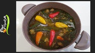Chicken Spinach Soup Recipe (Abunu Abunu)