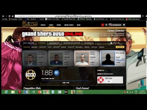FREE Modded Account GIVEAWAY!!! GTA V Update 1.3.2 PS4/PS3/Xbox One (CLOSED)