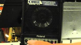 Roland Cube CM30 Monitor demo