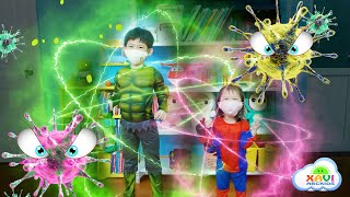 Xavi and Anna Wash your Hands & Children's story about Kids fighting with Viruses - Stay at Home