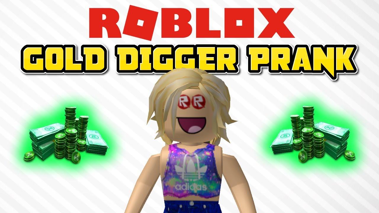 Roblox Gold Digger Prank 6 Roblox Social Experiment - gold digger prank in roblox