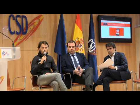 Presentación  de patrocínalos en el CSD. Intervención de Samu Sánchez, padrino del acto.