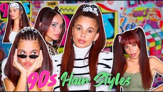 5 CUTE 90's inspired hairstyles! QUICK & EASY