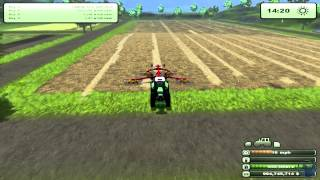 Farming Simulator 2013: How to farm. Baling Straw (Tutorial. 4/9)