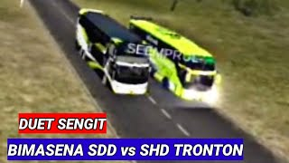 duet sengit  SDD vs Tronton balap bussid | game online android