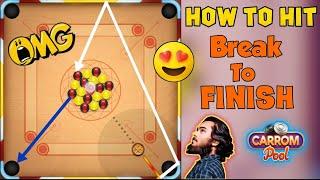 🌟Carrom pool🌟Best 6 Break To Finish🔥Hard trick shots Indirect gameplay 😱 OMG / Must Watch screenshot 4