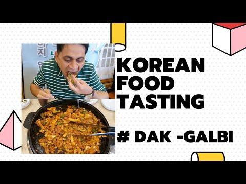Korean food tasting | Dak-galbi | Chicken dish | Stir-fried Spicy Chicken | Fresh Food  | Chuncheon