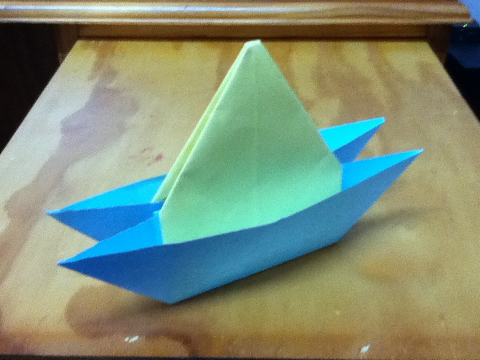 How to Make an Origami Yacht - Catamaran or Two Hull Boat ...