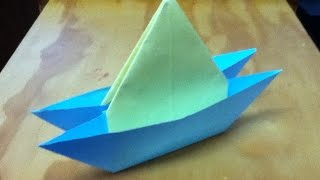 How to Make an Origami Yacht - Catamaran or Two Hull Boat - Step by Step Instructions - Tutorial