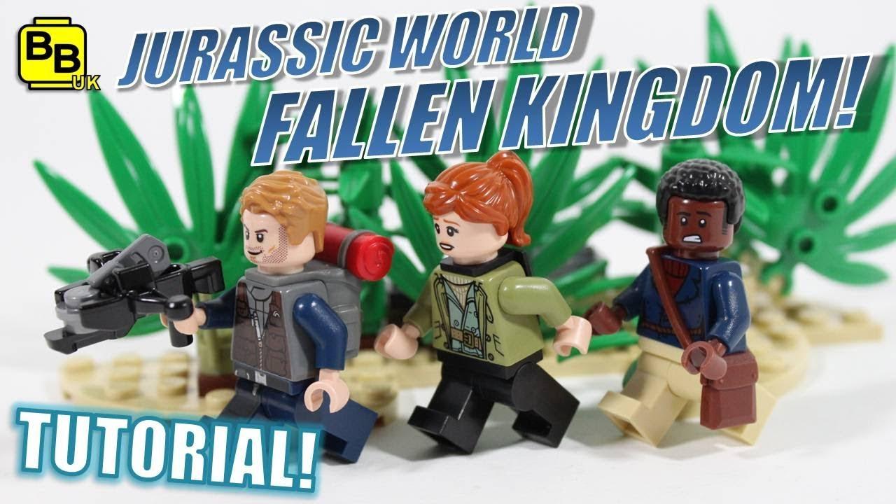 Lego Jurassic World Fallen Kingdom Minifigure Creations Youtube