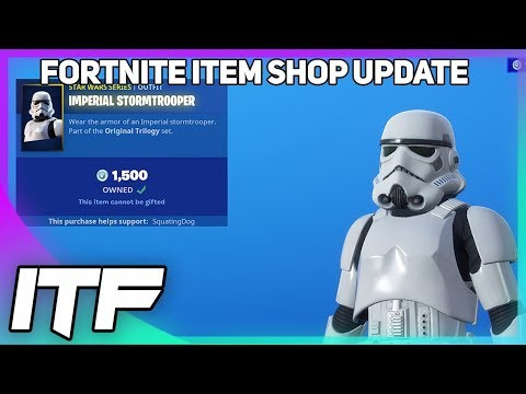 Fortnite Item Shop Update: *NEW* IMPERIAL STORMTROOPER SKIN!  (Fortnite Battle Royale)