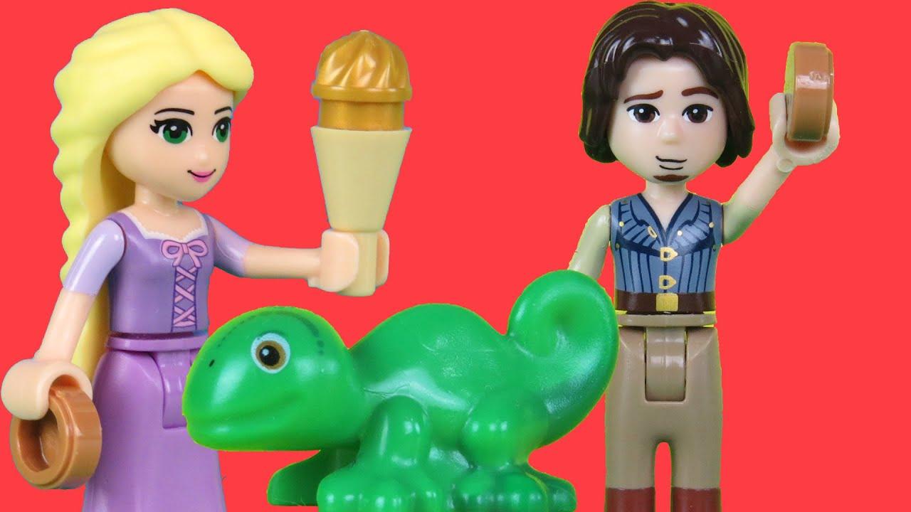 lego playset tangled rapunzel eugene pascal youtube