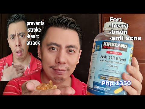 KIRKLAND FISH OIL BLEND WITH SALMON OIL, EPA, DHA & VITAMIN E FOR THE HEART, BRAIN & ACNE REVIEW